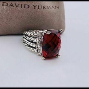 David Yurman Jewelry - David Yurman Garnet 16x12mm Wheaton Ring